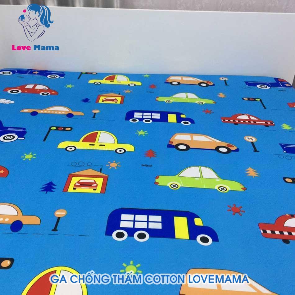 Ga chống thấm nước cho bé hình xe ô tô xe hơi màu xanh dương